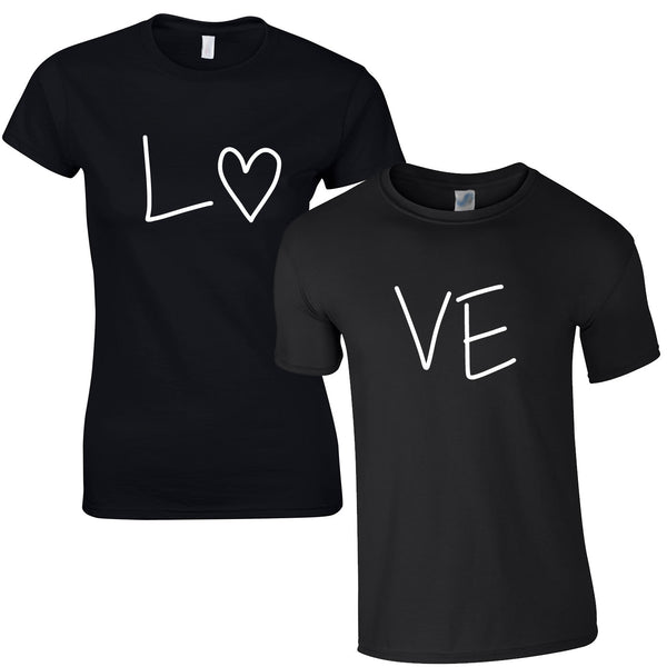 Love Couples Tee In Black