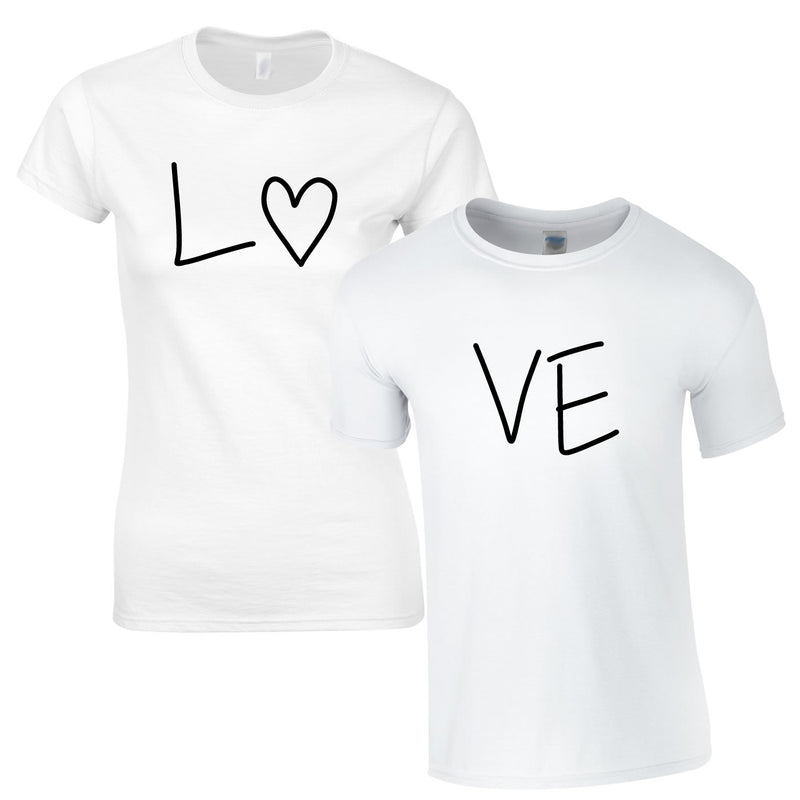 Love Couples Tee In White