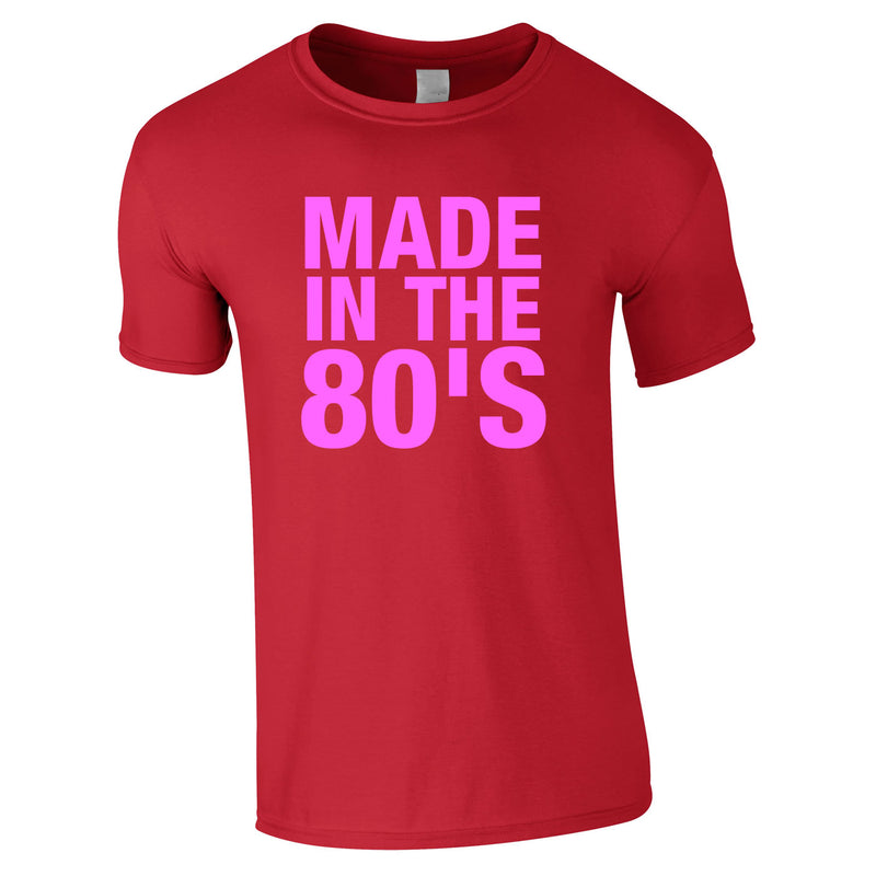 Made In The 80's Tee Red
