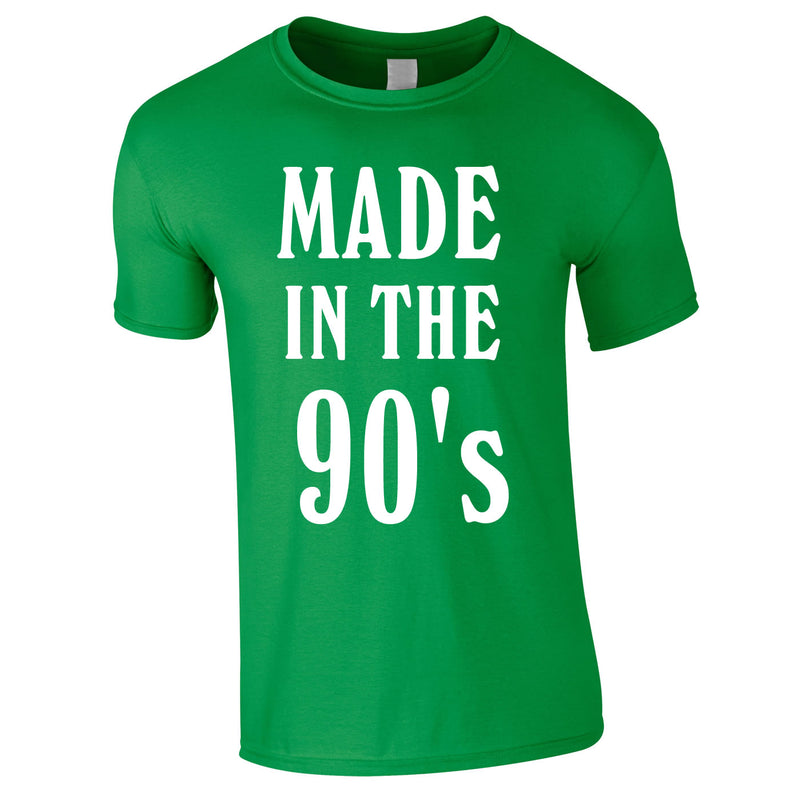 Made In The 90's Slogan Tee In Green