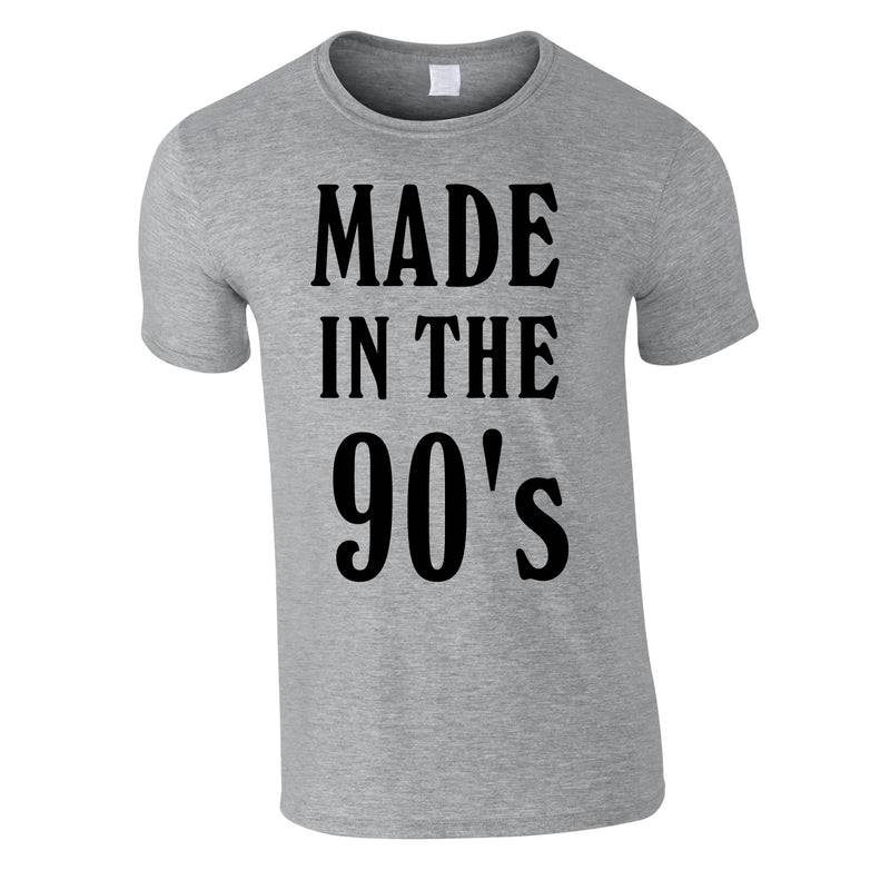 Made In The 90's Slogan Tee In Grey