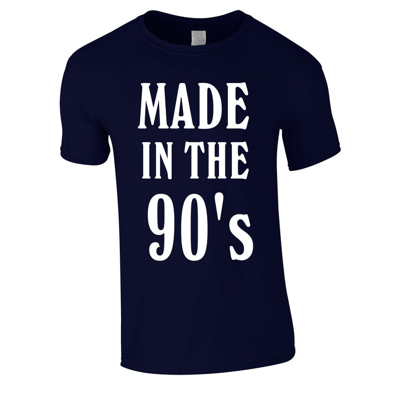 Made In The 90's Slogan Tee In Navy