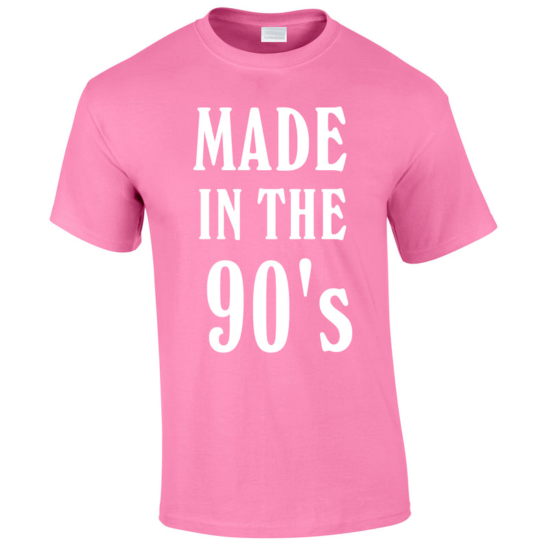 Made In The 90's Slogan Tee In Pink