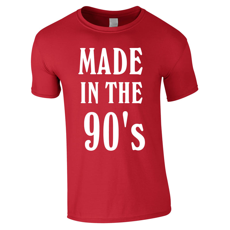 Made In The 90's Slogan Tee In Red