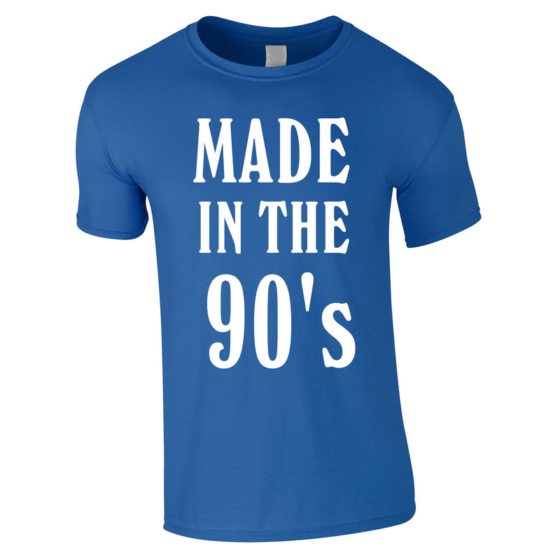Made In The 90's Slogan Tee In Royal