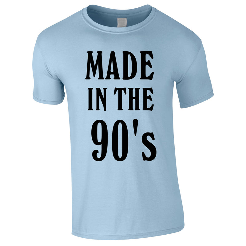 Made In The 90's Slogan Tee In Sky