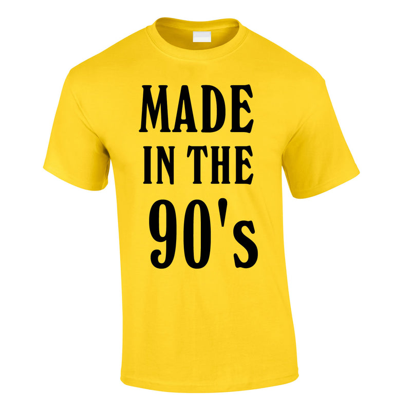 Made In The 90's Slogan Tee In Yellow