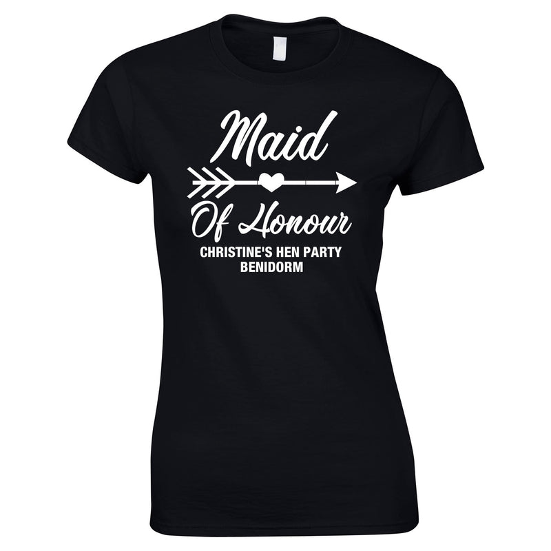 Maid Of Honour Custom Printed Tops