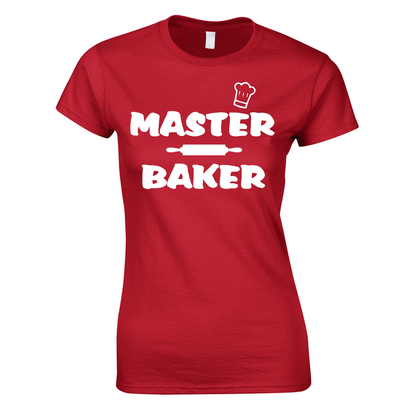 Master Baker Top In Red