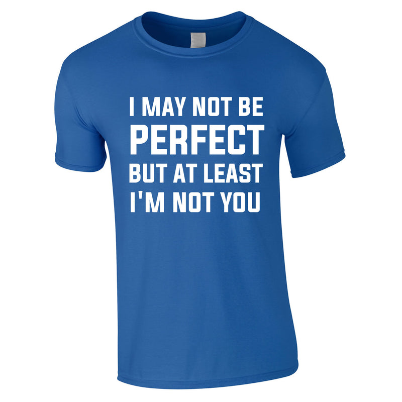 I May Not Be Perfect But At Least I'm Not You Tee In Royal
