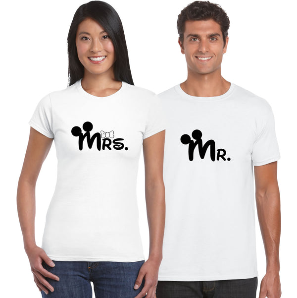 MR & Mrs Couples T Shirts