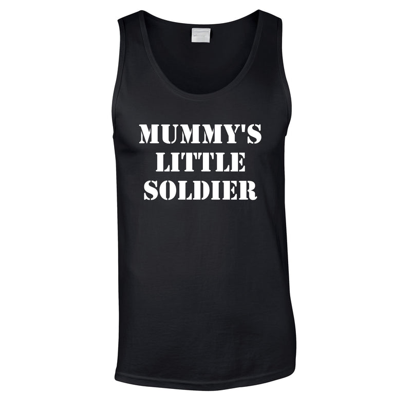 Mummy's Little Soldier Vest In Black