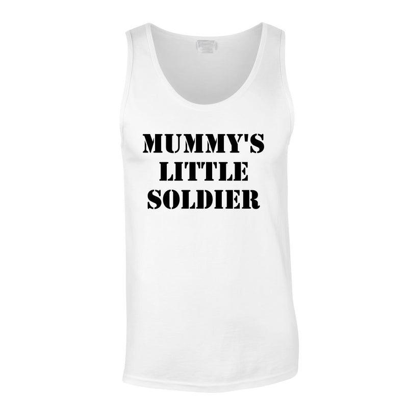 Mummy's Little Soldier Vest In White