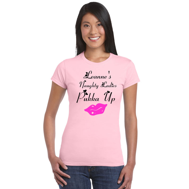Lips Graphic Naughty Ladies Hen Party T Shirts