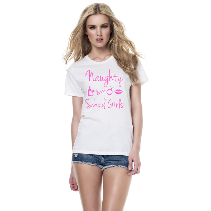 Naughty School Girls Theme Hen Party T Shirts