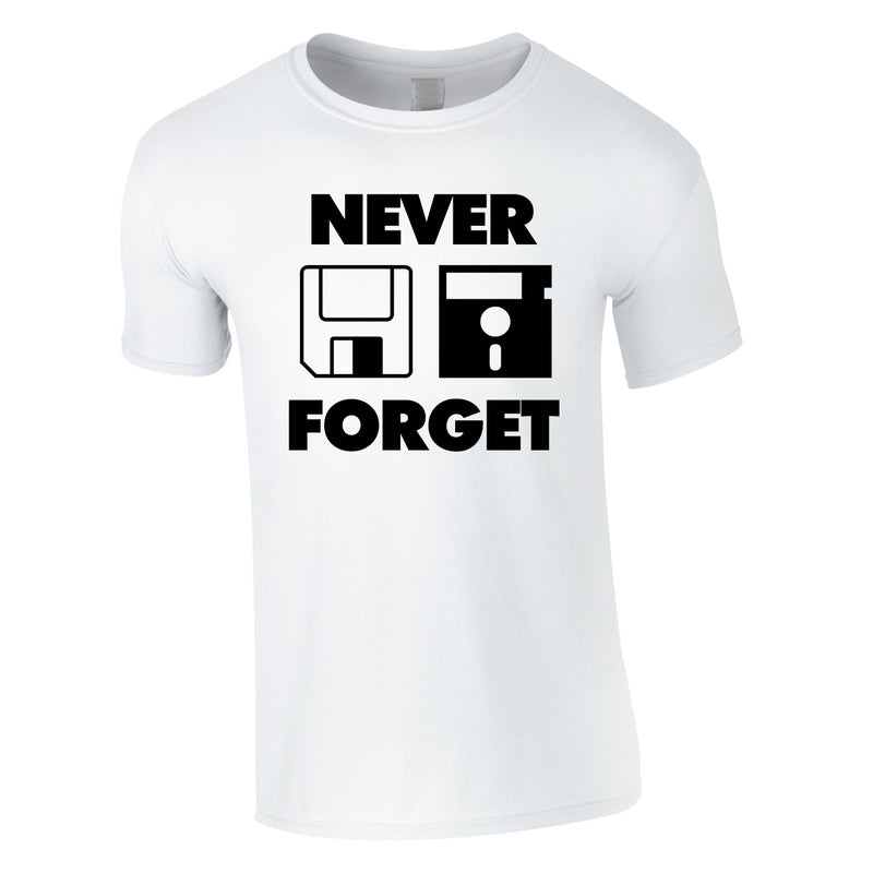Never Forget Floppy Disk Tee In White