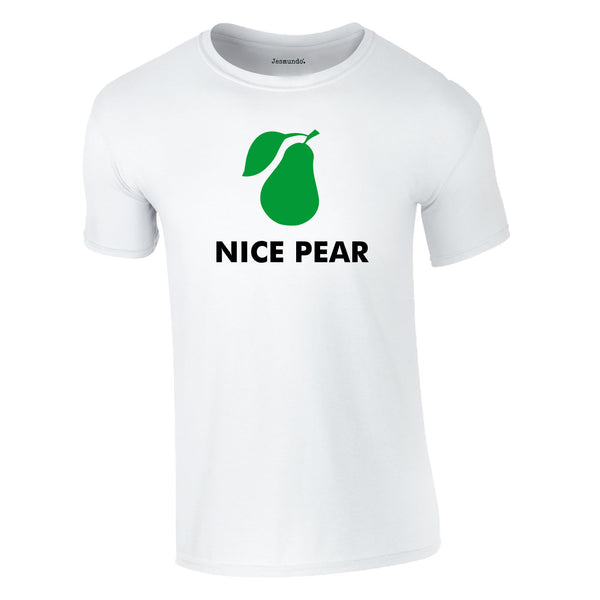 Nice Pear Tee In White