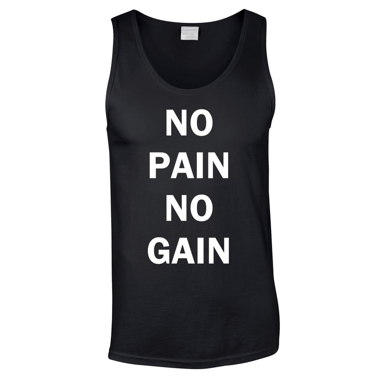 No Pain No Gain Vest In Black