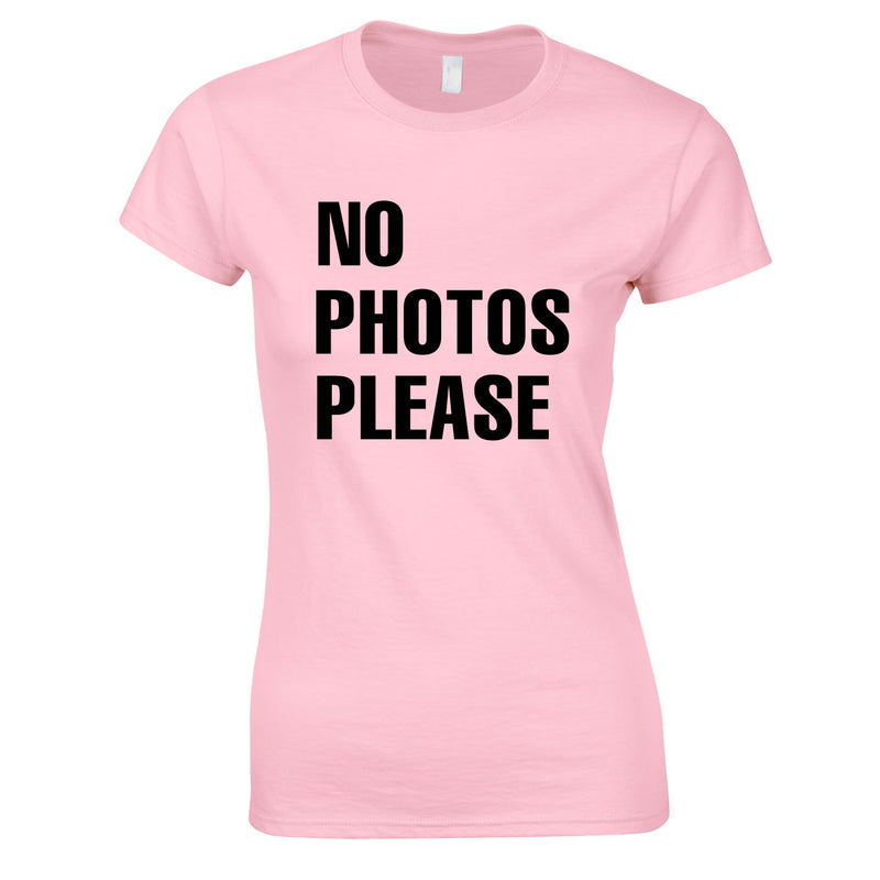 No Photos Please Ladies Top In Pink