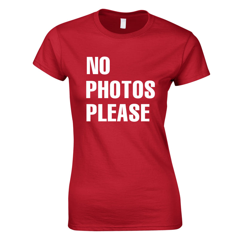 No Photos Please Ladies Top In Red