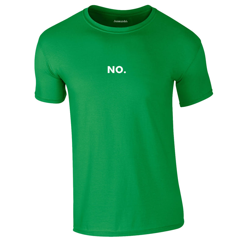 No Printed Tee In Green