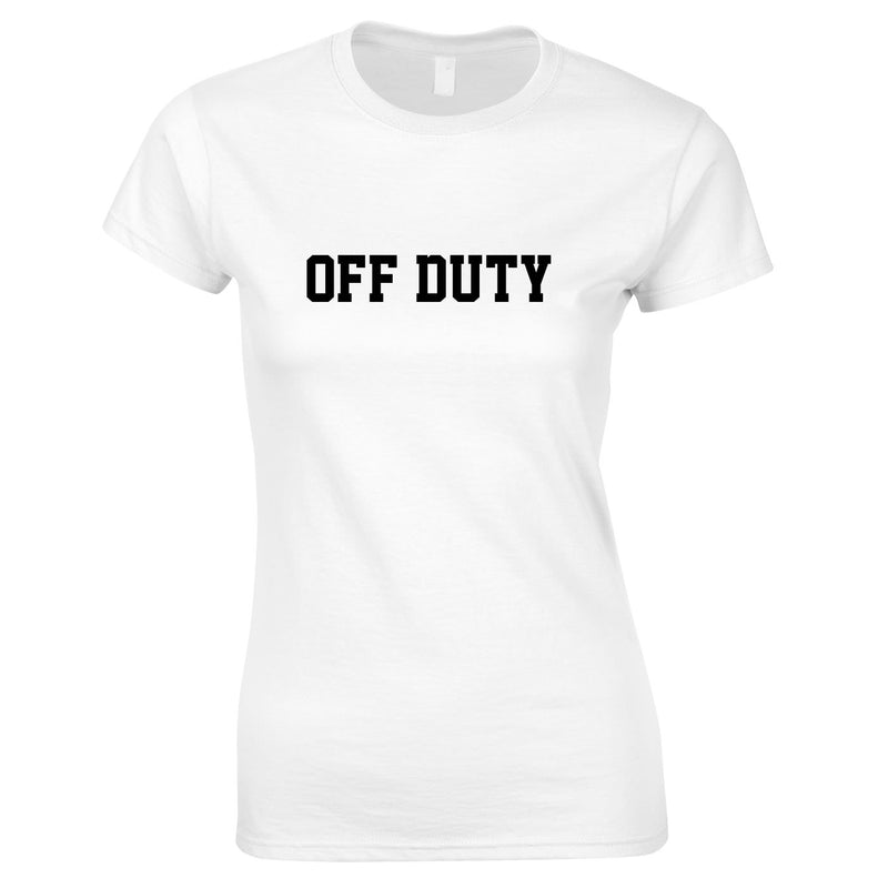 Off Duty Ladies Top In White