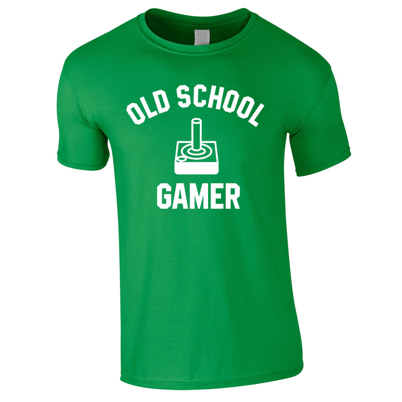 Old School Gamer Tee In Green