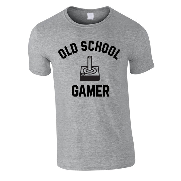 Old School Gamer Tee In Grey