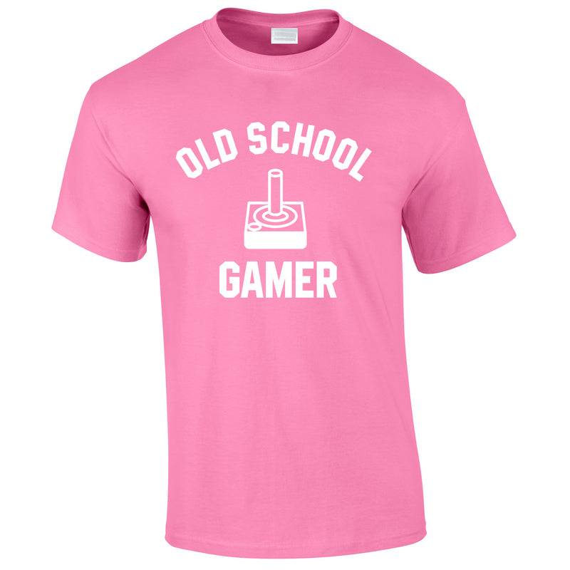 Old School Gamer Tee In Pink