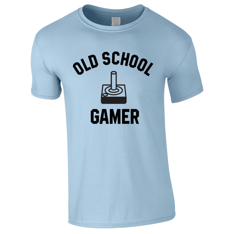Old School Gamer Tee In Sky