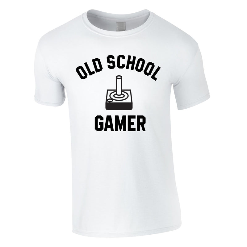Old School Gamer Tee In White