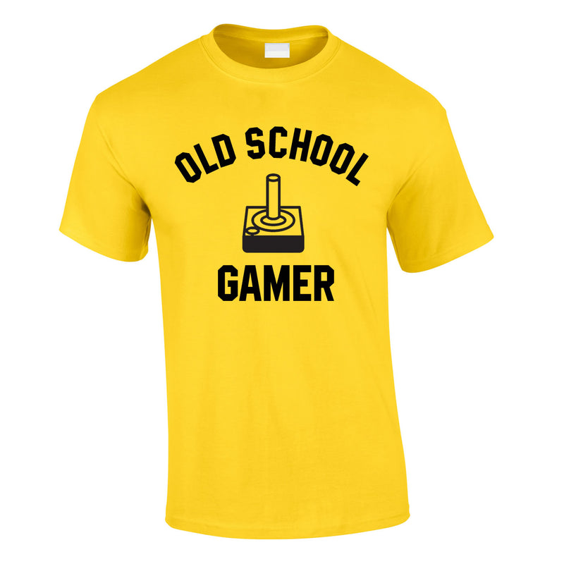 Old School Gamer Tee In Yellow