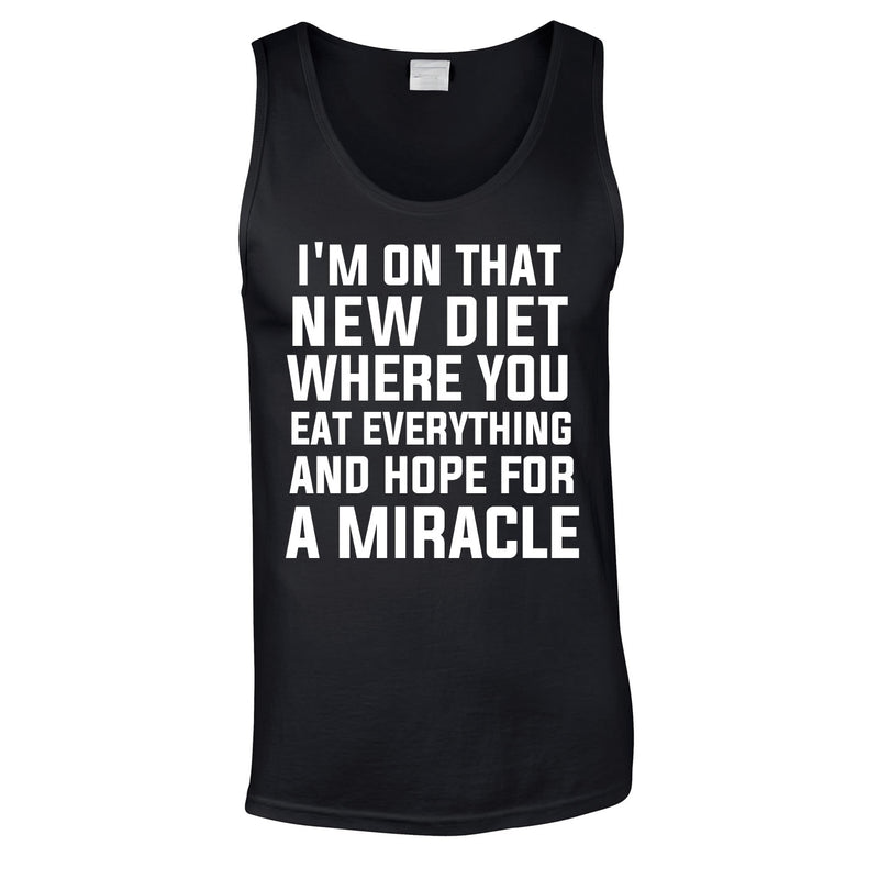 I'm On That New Diet Funny Vest In Black