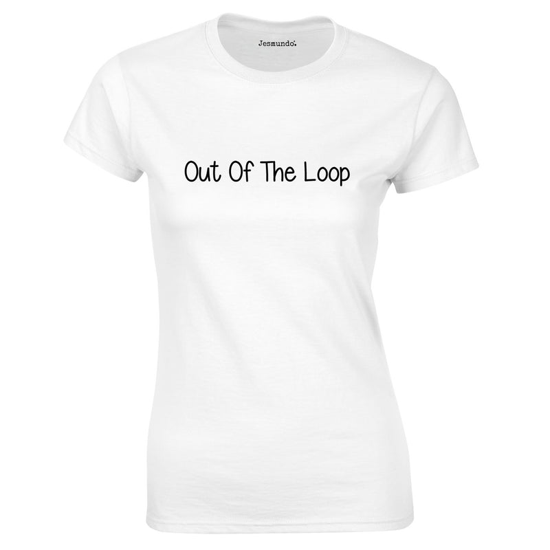 Out Of The Loop Ladies top in white