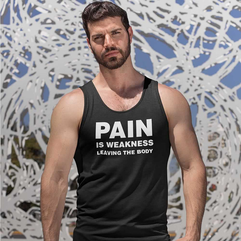 Pain Is Weakness Leaving The Body Vest For Men