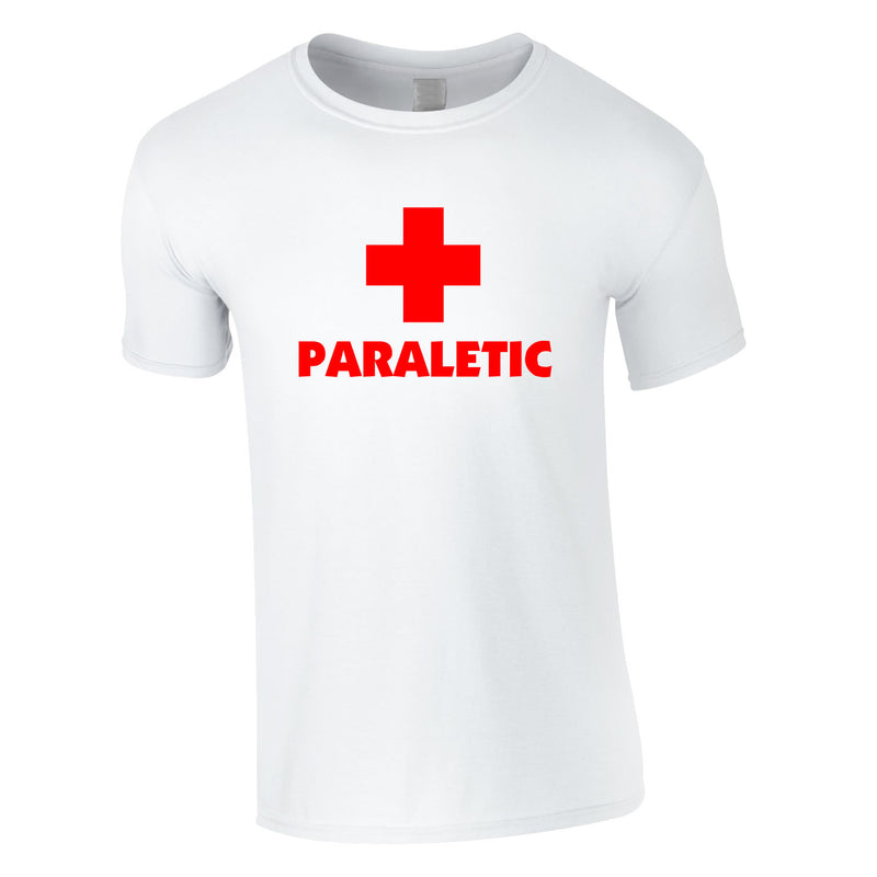 Paraletic Tee In White