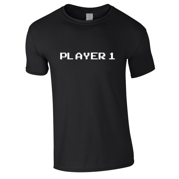 Player 1 Gaming Tee In Black