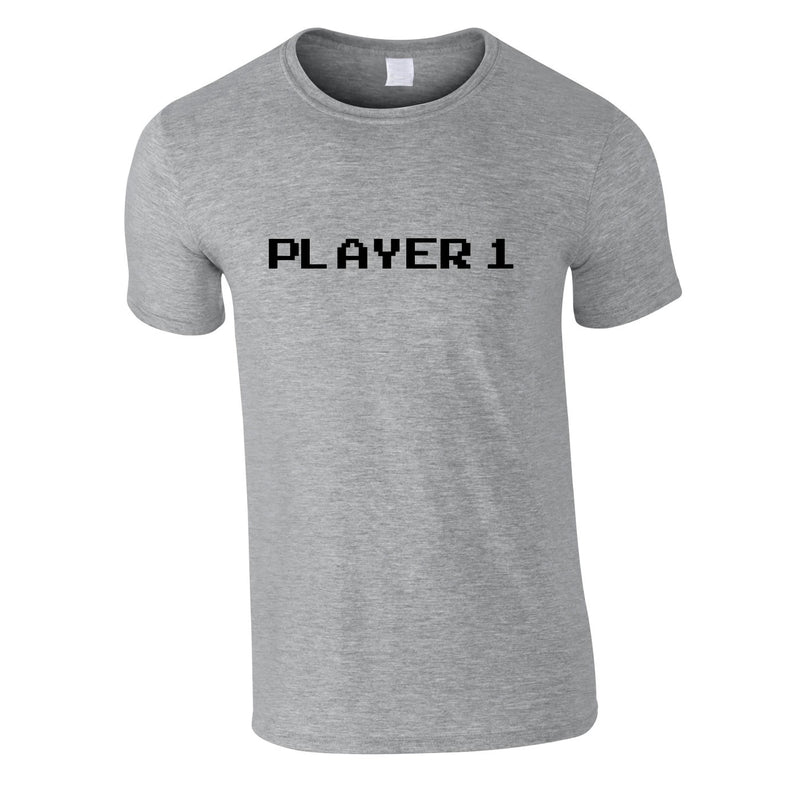 Player 1 Gaming Tee In Grey