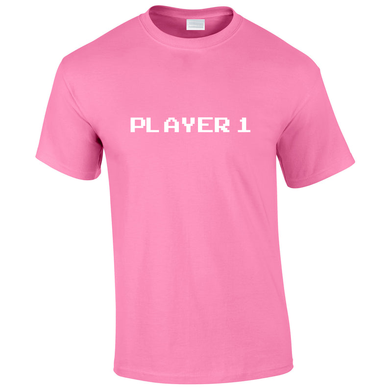 Player 1 Gaming Tee In Pink