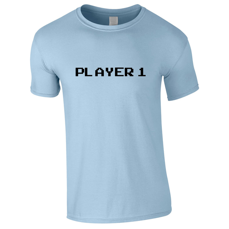 Player 1 Gaming Tee In Sky