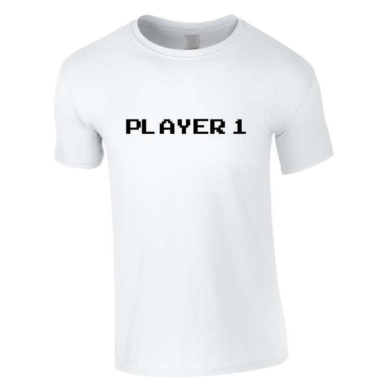 Player 1 Gaming Tee In White