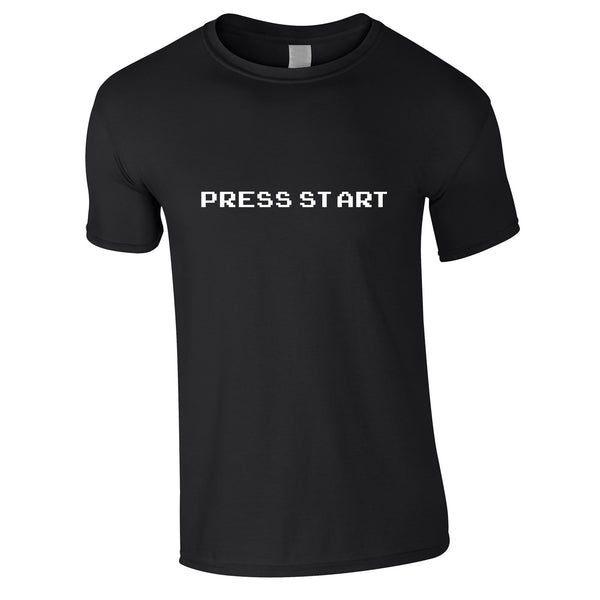 Press Start Tee In Black