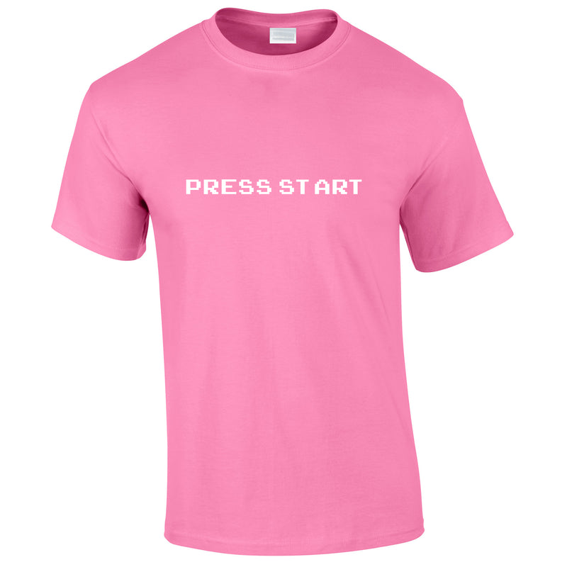 Press Start Tee In Pink
