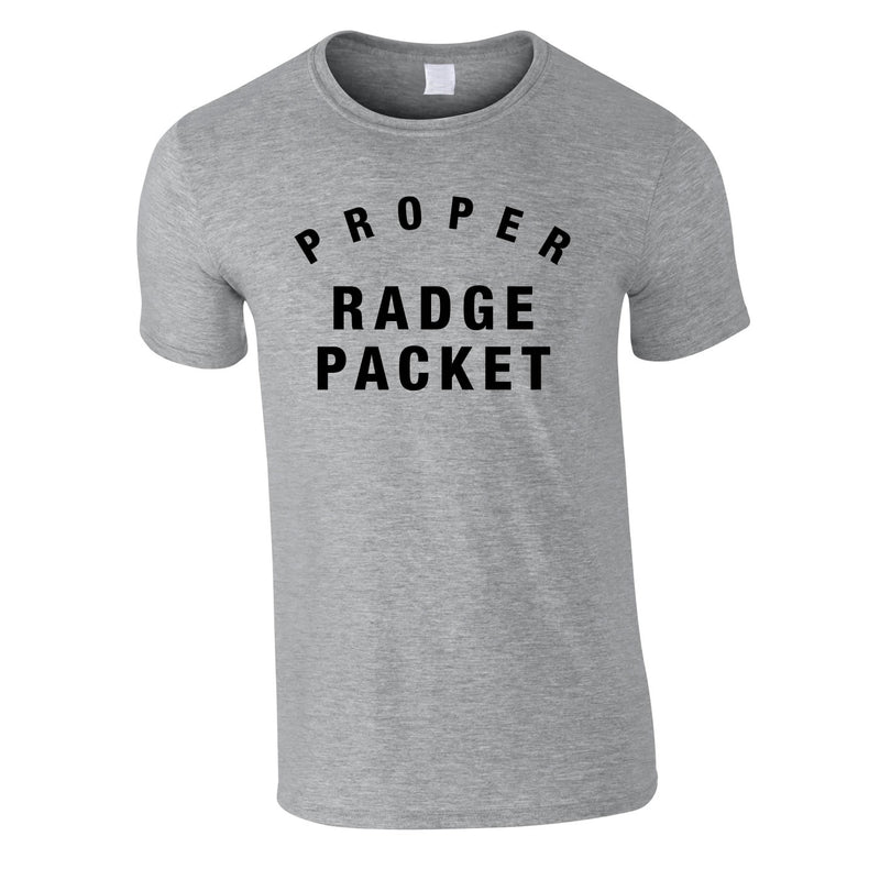 Proper Radge Packet Mens Tee In Grey