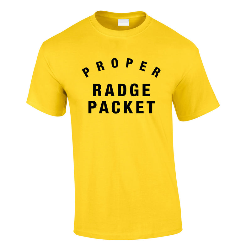 Proper Radge Packet Mens Tee In Yellow