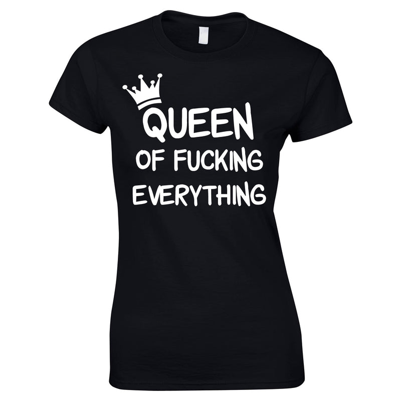 Queen Of Everything Top In Black