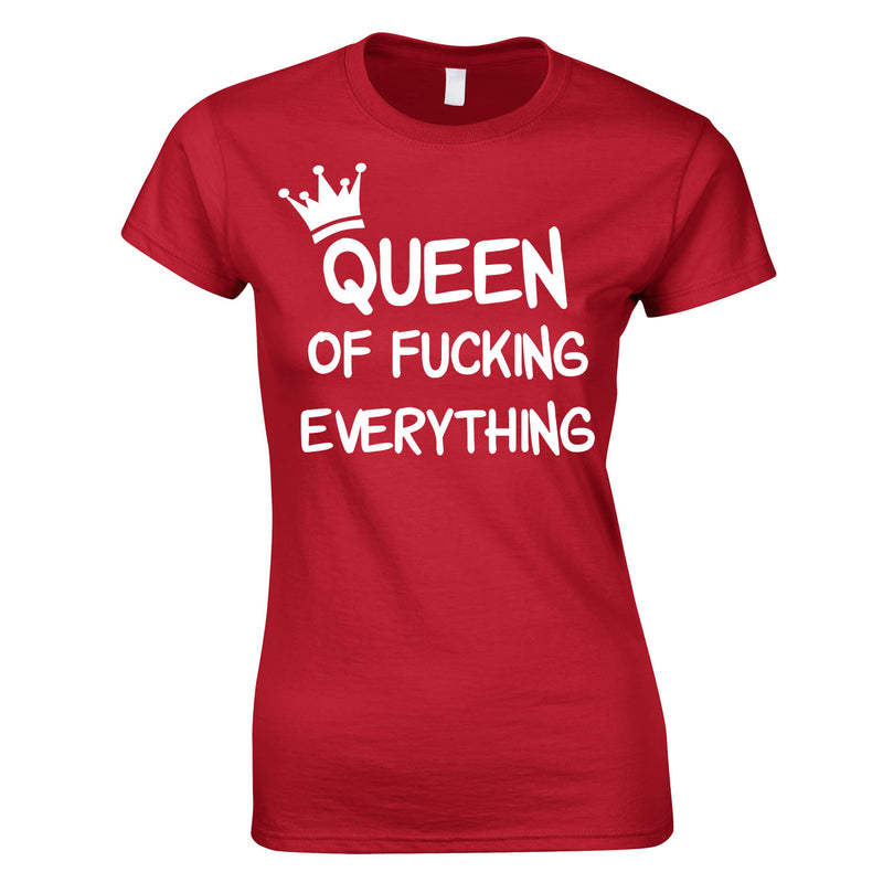 Queen Of Everything Top In Red