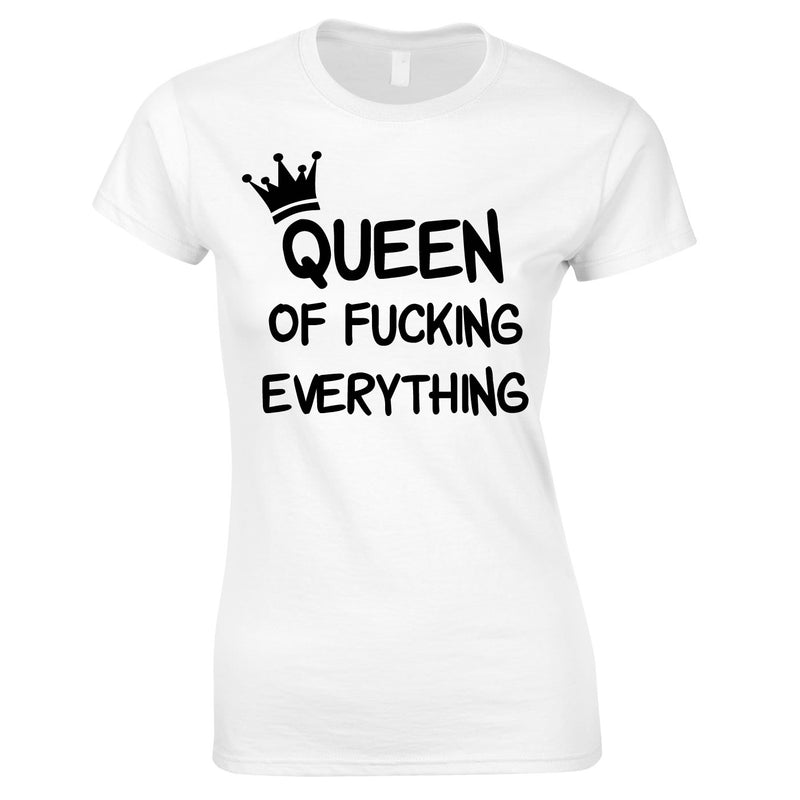 Queen Of Everything Top In White
