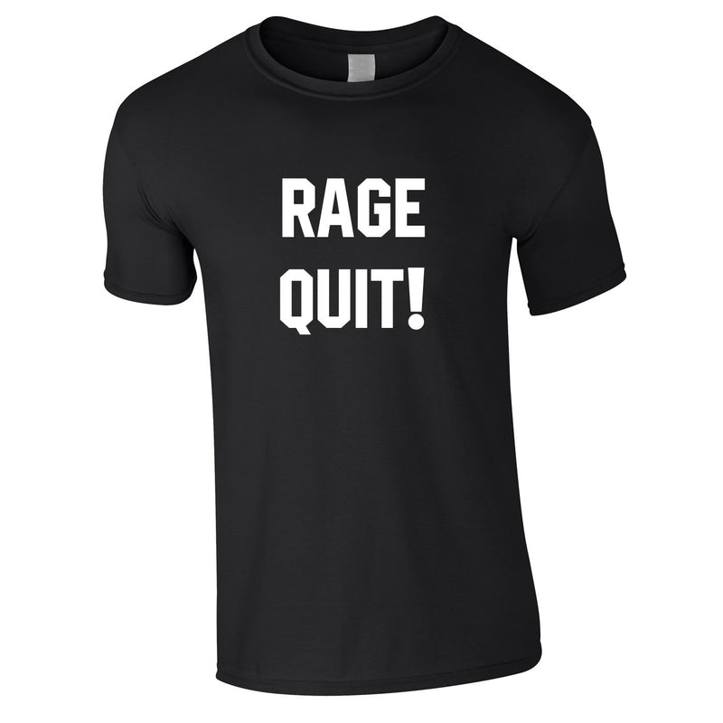 Rage Quit Gaming Tee In Black