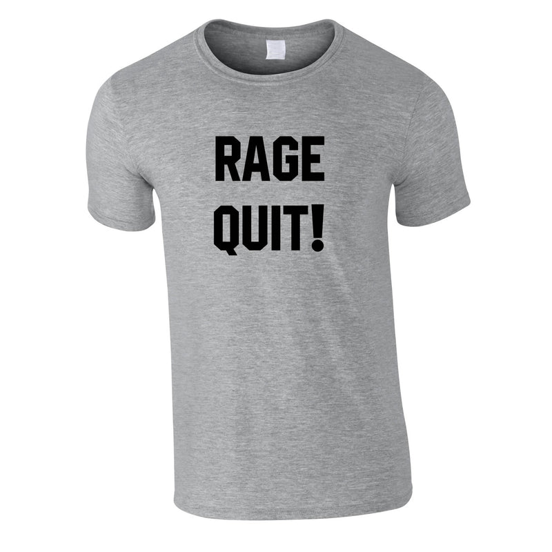 Rage Quit Gaming Tee In Grey